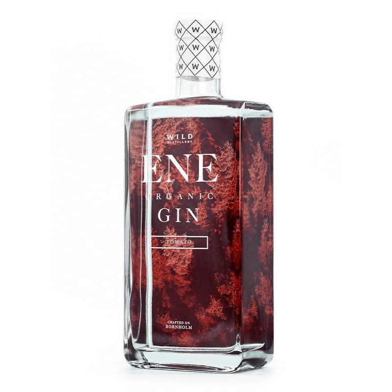 en flaska med ENE Organic Tomato gin